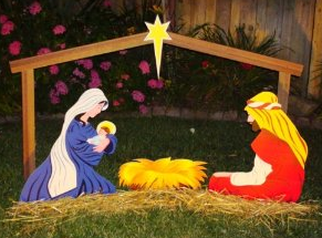 Building a manger scene euffslemani lighted outdoor nativity scene with le christmas pinterest solutioingenieria Choice Image
